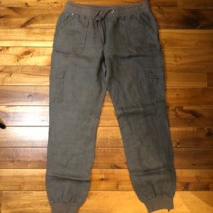 INC Linen Pants Grey/Green size 6